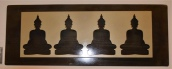 Four Buddhas on Metal